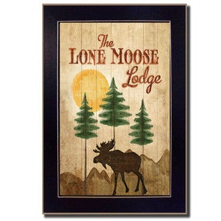 'Lone Moose' Framed Wall Art