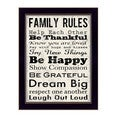 Louise Carey 'Family Rules I' Framed Wall Art