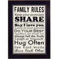 Louise Carey 'Family Rules II' Framed Wall Art