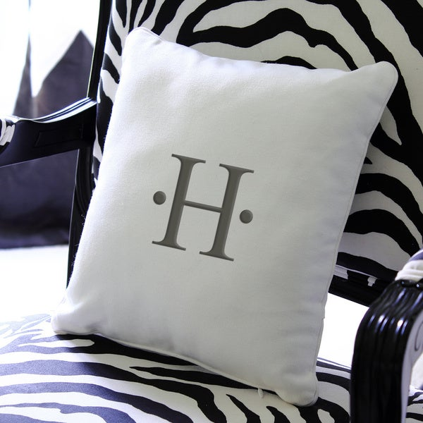 Personalized Initial 12-inch Throw Pillow 11742549