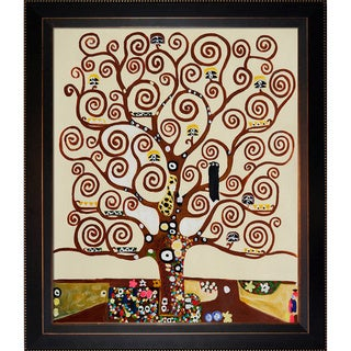 Gustav Klimt 'Tree of Life' Hand Painted Framed Canvas Art