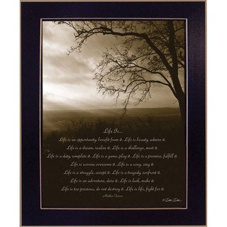 DeeDee 'Life Is By Mother Theresa' Framed Wall Art