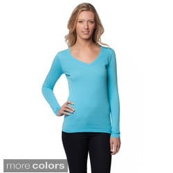 A to Z Women's V-neck Long Sleeve Top