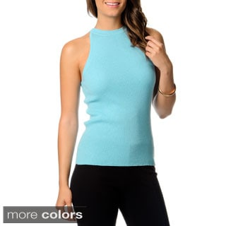 Ply Cashmere Women's Mock Neck Halter Top