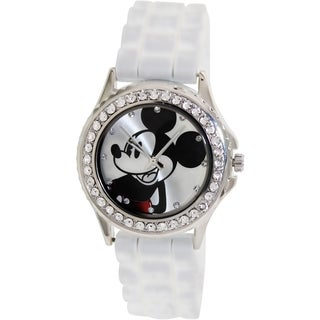 Disney Women's White Silicone Quartz Watch