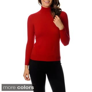 Ply Cashmere Women's Turtleneck Pullover Sweater