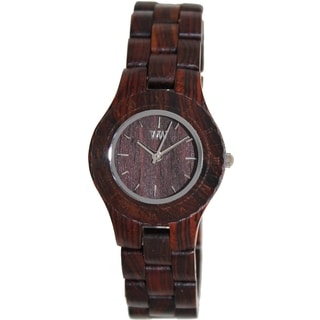 WeWOOD Women's Moon Brown Wood Analog Quartz Watch
