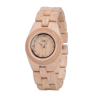 WeWOOD Women's Odyssey Beige Wood Analog Quartz Watch