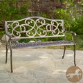 Christopher Knight Home McKinley Cast Aluminum Copper Outdoor Bench