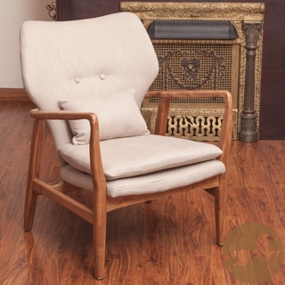 Christopher Knight Home Haddie Wood Frame Club Chair