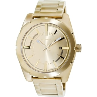 Diesel Men's Gold Stainless Steel and Gold Dial Analog Quartz Watch