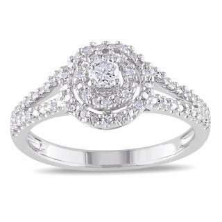 Miadora Sterling Silver 1/5ct TDW Diamond Promise Ring (H-I, I2-I3)