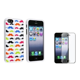 BasAcc Mustaches Case/ LCD Protector for Apple iPhone 5/ 5S