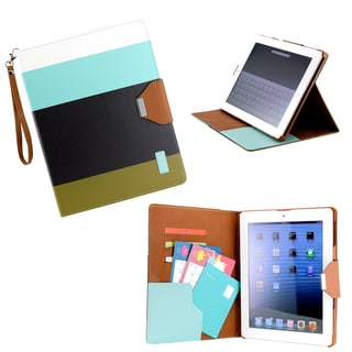 Gearonic Multi Color PU Leather Card Holder Case for iPad 2 3 4