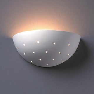 Justice Design Group 1-light Perferated Quarter Sphere Ceramic Sconce