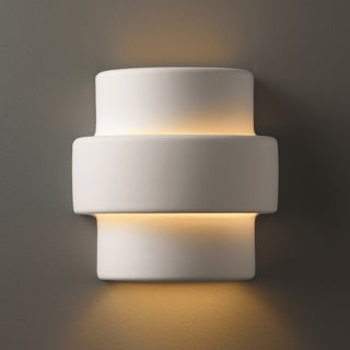 Justice Design Group 1-light Step Ceramic Sconce