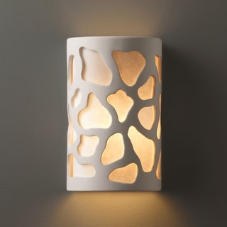 Multi Directional Cobblestones Ceramic Sconce