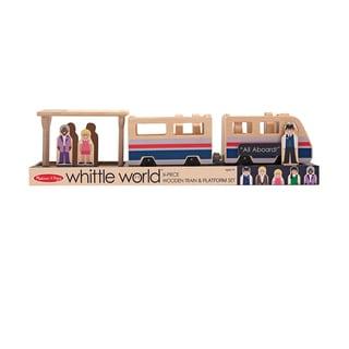 Melissa & Doug Whittle World Train Platform Play Set