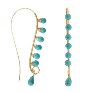 Michael Valitutti/ Kristen Gold over Silver Turquoise Earrings
