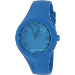 Puma PU103001003 Men's Form Blue Silicone and Blue Dial Quartz Watch