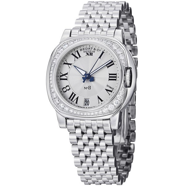 Bedat Women's 838.061.100 'No8' Stainless Steel Diamond Automatic Watch