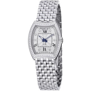 Bedat Women's 'No3' 305.021.109 Diamond Dial Stainless Steel Sapphire Crystal Quartz Watch