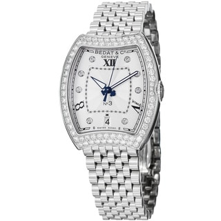 Bedat Women's 315.071.109 'No3' Diamond Dial Stainless Steel Automatic Watch