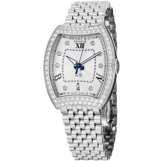 Bedat Women's 'No3' 315.071.109 Diamond Dial Stainless Steel Automatic Watch