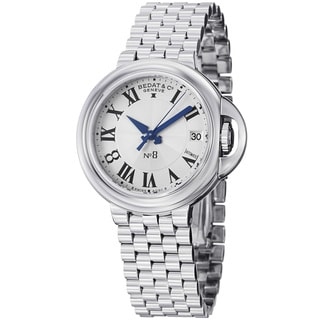 Bedat Women's 'No8' 828.011.600 Silver Dial Stainless Steel Automatic Watch