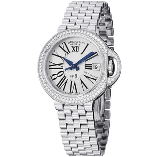 Bedat Women's 'No8' Silver Dial Steel Diamond Automatic Watch