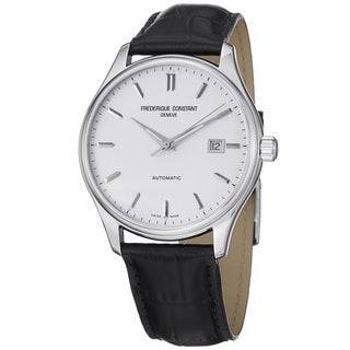 Frederique Constant Men's 'Index' Silver Dial Automatic Strap Watch