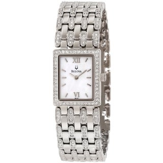 Bulova Women's Dress Steel and Mother of Pearl Dial Quartz Watch