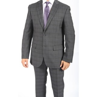 Zonettie by Ferrecci Men's Slim Fit Grant Charcoal 2-button Suit