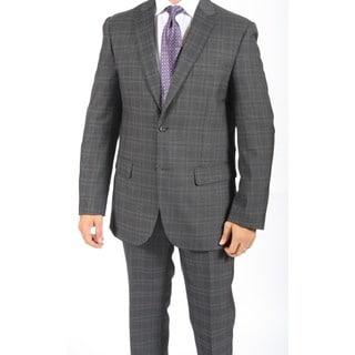 Zonettie by Ferrecci Men's Slim Fit Grant Charcoal 2-button Suit