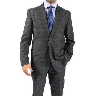 Zonettie by Ferrecci Men's Slim Fit Charcoal 2-Button Suit