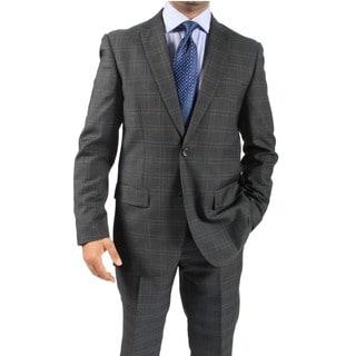 Zonettie by Ferrecci Men's Slim Fit Charcoal 2-Button Suit
