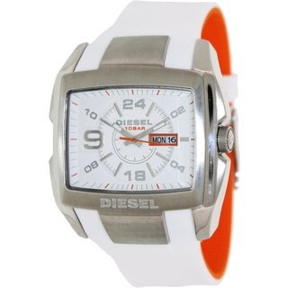 Diesel Men's Two-tone Silicone and White Dial Quartz Watch