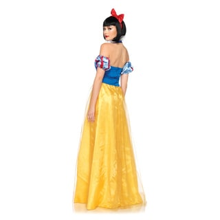 Leg Avenue Women's DP85070 Princess Snow White Long Dress Costume Set