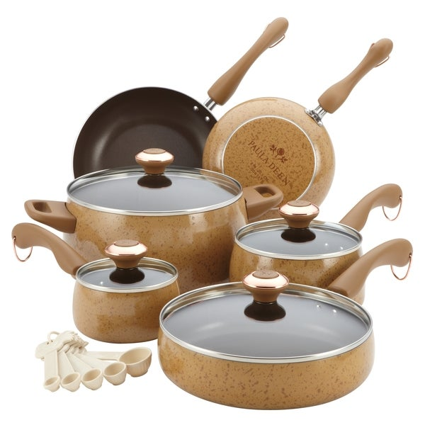 Paula Deen Honey 15-piece Signature Porcelain Cookware Set **With $20 Mail-in Rebate**