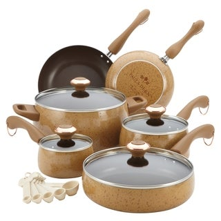 Paula Deen Honey 15-piece Signature Porcelain Cookware Set (Set of 15)