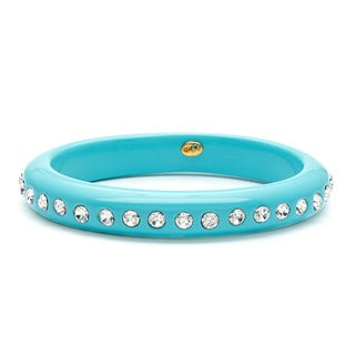 Kenneth Jay Lane Turquoise Band Crystal Bangle Bracelet