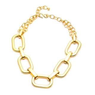 Kenneth Jay Lane Goldtone Satin Flat Link Necklace