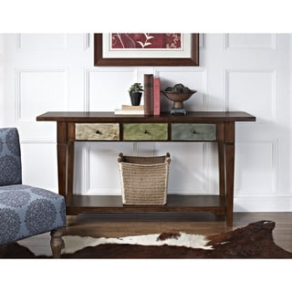 Altra Hand-painted Sage Console Table and Drawers