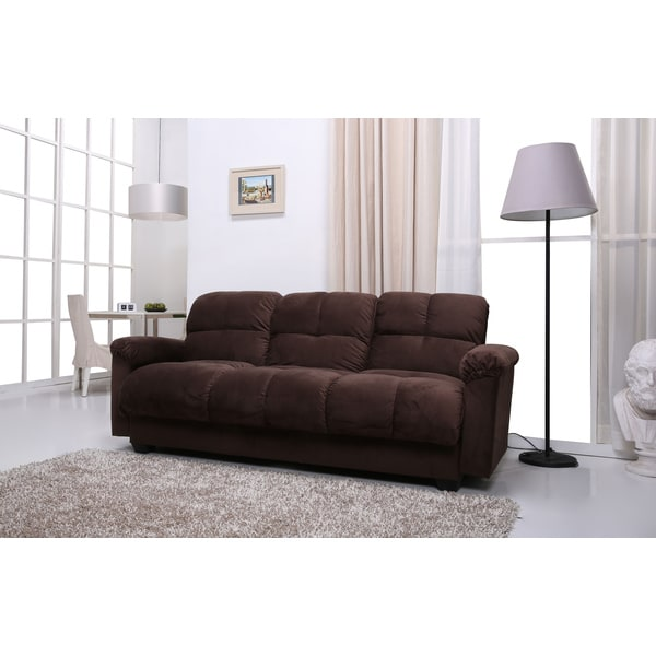 Phila Chocolate Storage Sofa Bed