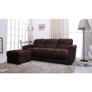 Phila Chocolate Sofa Bed/ Ottoman Set