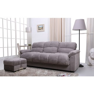 Phila Grey Sofa Bed/ Ottoman Set
