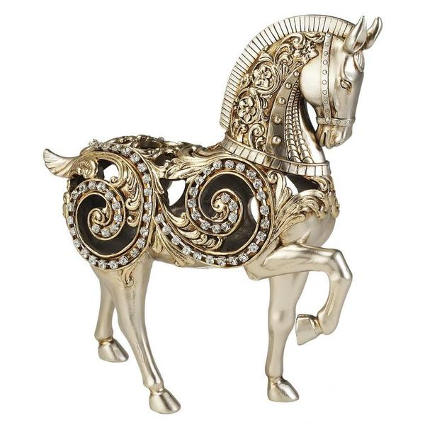 11.50-inches High Silver Knight Horse Decorative Piece