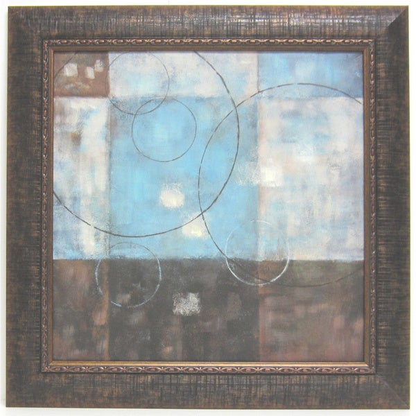 'Soft Canvas Abstract I' Framed Art