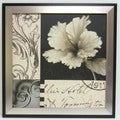 'Soft Canvas Floral Art I' Framed Canvas Art