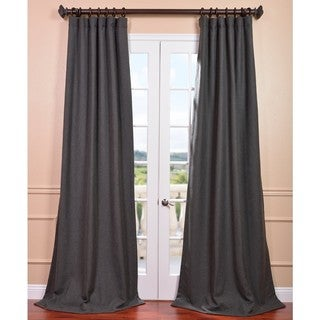 Poppyseed Heavy Faux Linen Curtain Panel